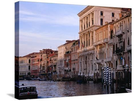 Buildings on Canal Venice, Italy-Glenn Beanland-Stretched Canvas Print
