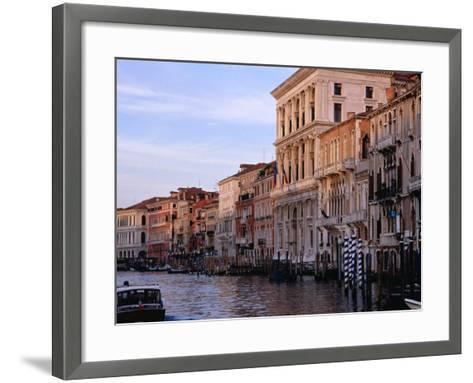 Buildings on Canal Venice, Italy-Glenn Beanland-Framed Art Print