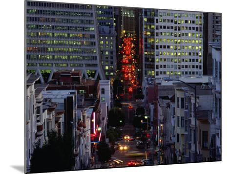 Downtown Traffic and Base of Transamerica Pyramid at Left, San Francisco, California, USA-Roberto Gerometta-Mounted Photographic Print