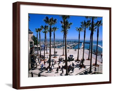 Marina Gate at Pacific Bell Park, San Francisco, California, USA-Roberto Gerometta-Framed Art Print