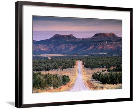 Bears Ears Buttes from Cedar Mesa, Moki Dugway Road, Manti-La Sal National Forest, USA-Witold Skrypczak-Framed Art Print