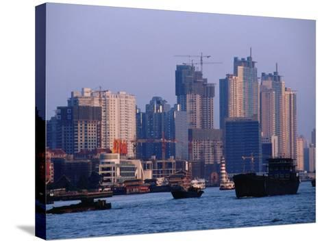 City Skyline and Construction, Shanghai, China-Phil Weymouth-Stretched Canvas Print