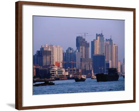 City Skyline and Construction, Shanghai, China-Phil Weymouth-Framed Art Print