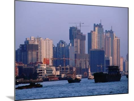 City Skyline and Construction, Shanghai, China-Phil Weymouth-Mounted Photographic Print