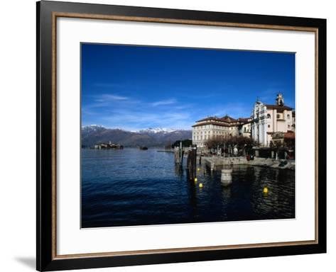 Palazzo Borromeo and Isola Di Pescatori in Background, Lago Maggiore, Italy-Martin Moos-Framed Art Print