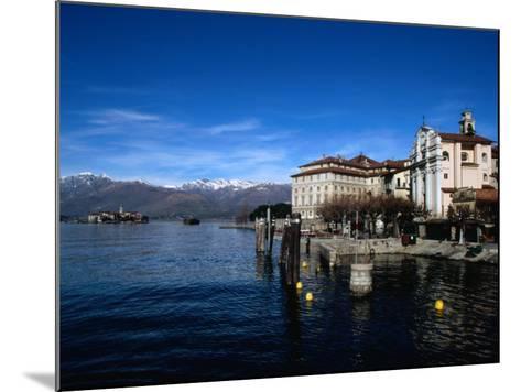 Palazzo Borromeo and Isola Di Pescatori in Background, Lago Maggiore, Italy-Martin Moos-Mounted Photographic Print