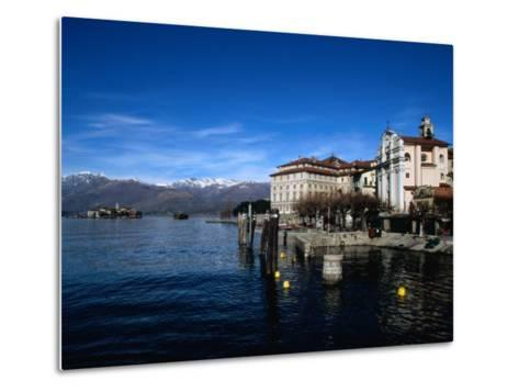 Palazzo Borromeo and Isola Di Pescatori in Background, Lago Maggiore, Italy-Martin Moos-Metal Print