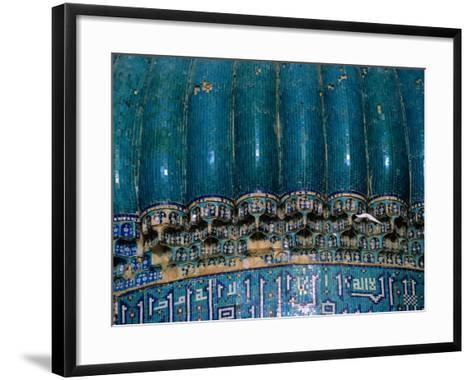 Detail of 15th Century Shrine of Khwaja Abu Nasr Parsa, Afghanistan-Stephane Victor-Framed Art Print