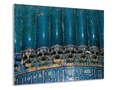 Detail of 15th Century Shrine of Khwaja Abu Nasr Parsa, Afghanistan-Stephane Victor-Metal Print