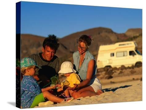 Family Playing on Beach, Cabo San Lucas, Mexico-Philip & Karen Smith-Stretched Canvas Print