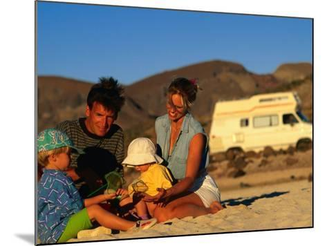 Family Playing on Beach, Cabo San Lucas, Mexico-Philip & Karen Smith-Mounted Photographic Print