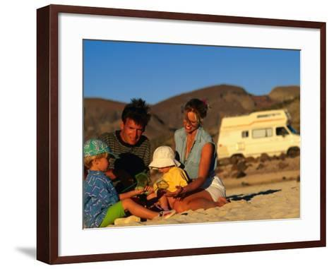 Family Playing on Beach, Cabo San Lucas, Mexico-Philip & Karen Smith-Framed Art Print