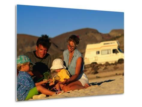Family Playing on Beach, Cabo San Lucas, Mexico-Philip & Karen Smith-Metal Print
