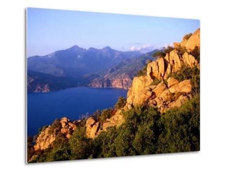 Les Calanques, Rocky Inlets Towering 400 Metres Above Golfe De Porto, Piana, Corsica, France-Tony Wheeler-Metal Print