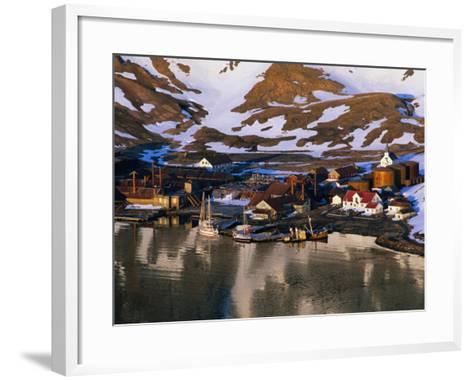 The Now Abandoned Grytviken Whaling Station in King Edward Point, Antarctica-Grant Dixon-Framed Art Print
