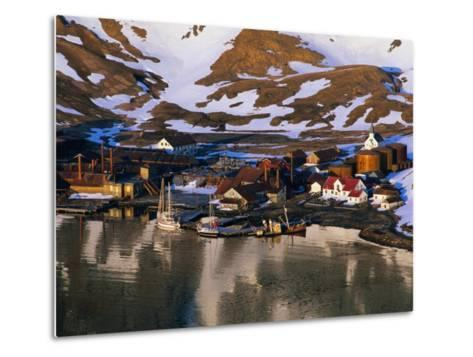 The Now Abandoned Grytviken Whaling Station in King Edward Point, Antarctica-Grant Dixon-Metal Print
