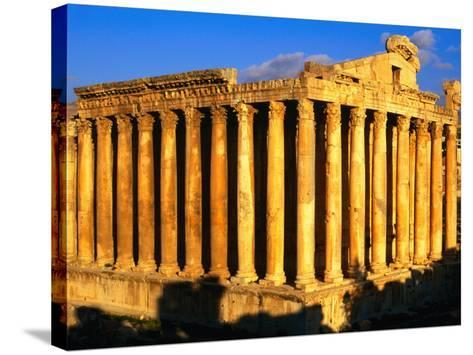 Exterior of Temple of Bacchus, Baalbek, Lebanon-Bethune Carmichael-Stretched Canvas Print