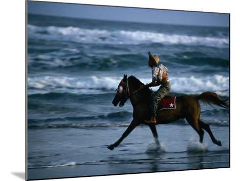 Boy Riding Pony on Beach Parangtritis, Central Java, Indonesia-Phil Weymouth-Mounted Photographic Print