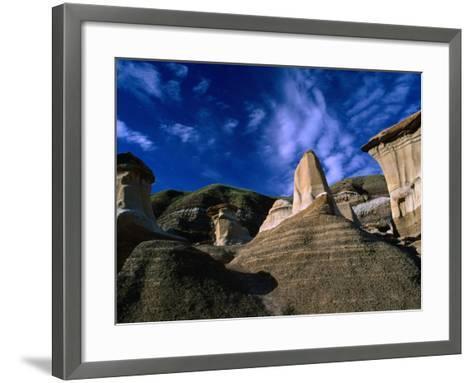 Badlands Formations Near Drumheller, Canada-Rick Rudnicki-Framed Art Print
