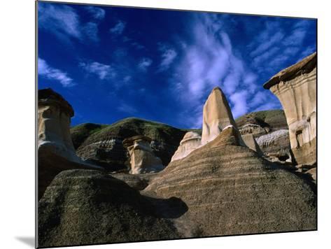 Badlands Formations Near Drumheller, Canada-Rick Rudnicki-Mounted Photographic Print