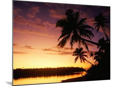 Coconut Palms Over Aitutaki Lagoon, Aitutaki, Southern Group, Cook Islands-John Banagan-Mounted Photographic Print