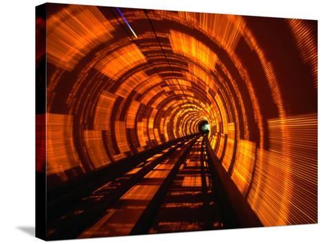 Inside Bund Tunnel, Shanghai, China-John Borthwick-Stretched Canvas Print