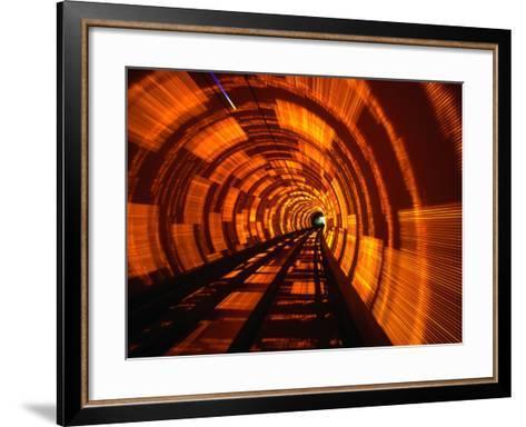 Inside Bund Tunnel, Shanghai, China-John Borthwick-Framed Art Print