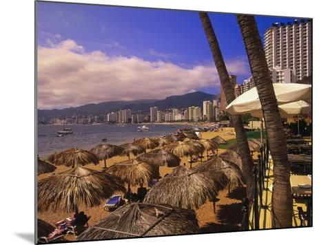 Beachfront Playa Icacos, Acapulco, Mexico-Walter Bibikow-Mounted Photographic Print
