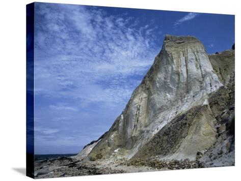 Gray Cliff, Gay Head Beach, Marthas Vineyard-Gary D^ Ercole-Stretched Canvas Print