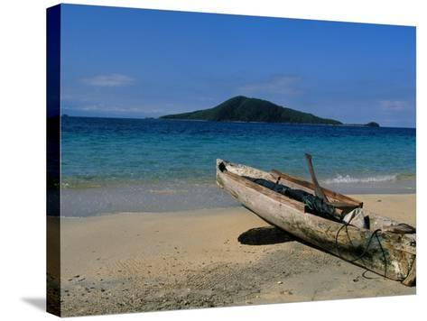 Canoe, Los Cochino, Garifuma, Honduras-Timothy O'Keefe-Stretched Canvas Print