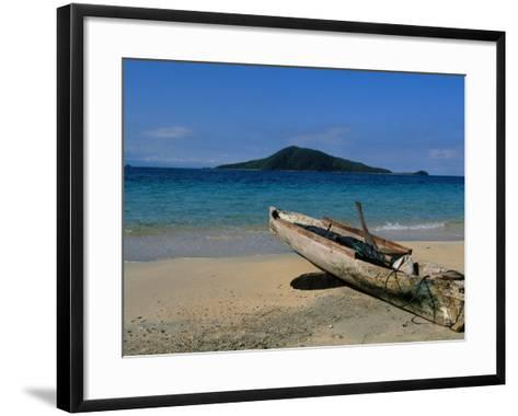 Canoe, Los Cochino, Garifuma, Honduras-Timothy O'Keefe-Framed Art Print