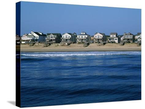 Beachfront Homes, Atlantic, Nags Head-Barry Winiker-Stretched Canvas Print