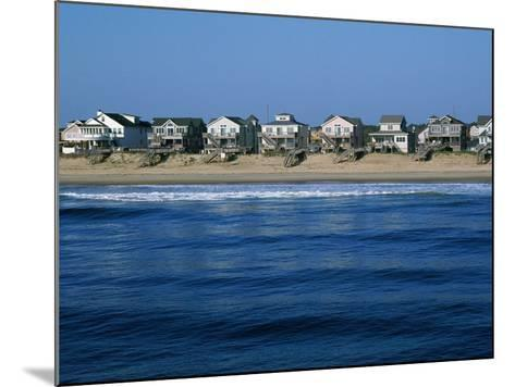 Beachfront Homes, Atlantic, Nags Head-Barry Winiker-Mounted Photographic Print