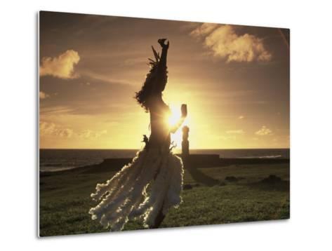 Polynesian Dancer, Ahu Tahai, Easter Island-Angelo Cavalli-Metal Print