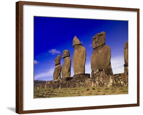 Moai at Ahu Tahai, Easter Island, Chile-Angelo Cavalli-Framed Art Print