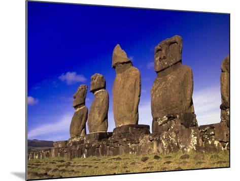 Moai at Ahu Tahai, Easter Island, Chile-Angelo Cavalli-Mounted Photographic Print