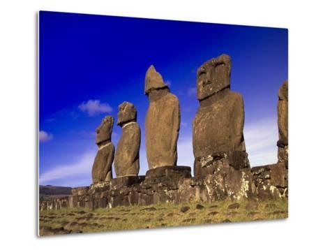 Moai at Ahu Tahai, Easter Island, Chile-Angelo Cavalli-Metal Print