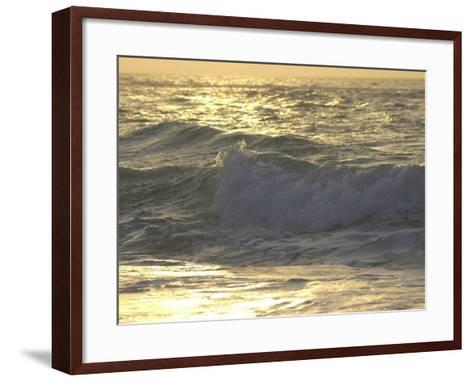 Ocean Wave, Playa Del Carmen, Mexico-Keith Levit-Framed Art Print