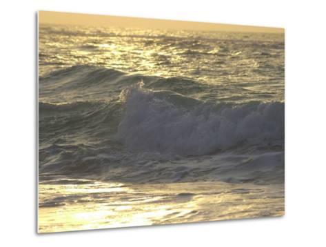 Ocean Wave, Playa Del Carmen, Mexico-Keith Levit-Metal Print