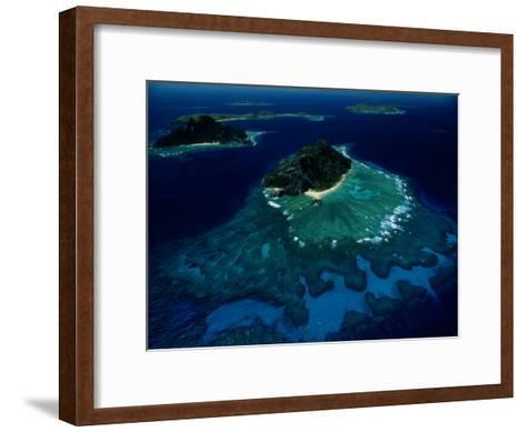 Aerial View of Melanesian Islands-James L^ Stanfield-Framed Art Print