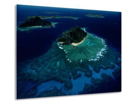 Aerial View of Melanesian Islands-James L^ Stanfield-Metal Print