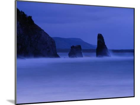 Surf Pounds Coastal Rock Formations-Raymond Gehman-Mounted Photographic Print
