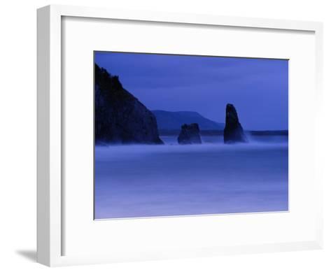Surf Pounds Coastal Rock Formations-Raymond Gehman-Framed Art Print