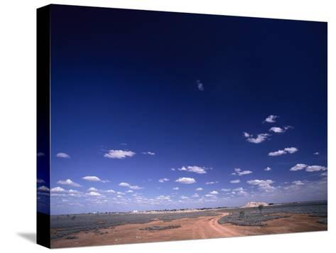 A Brilliant Sky and Clouds over the Flat Landscape-Jason Edwards-Stretched Canvas Print