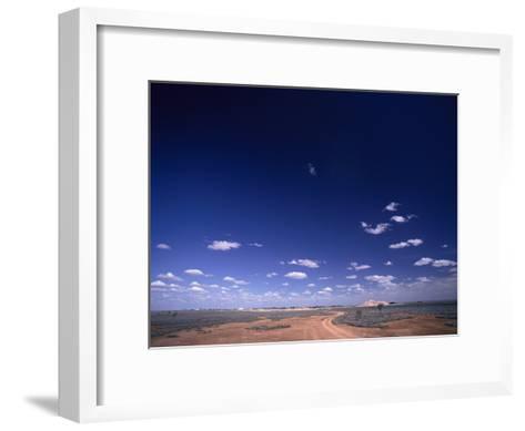 A Brilliant Sky and Clouds over the Flat Landscape-Jason Edwards-Framed Art Print