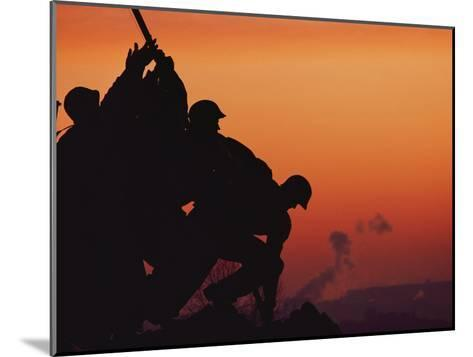 Silhouetted View of the Iwo Jima Memorial at Twilight-Anthony Peritore-Mounted Photographic Print