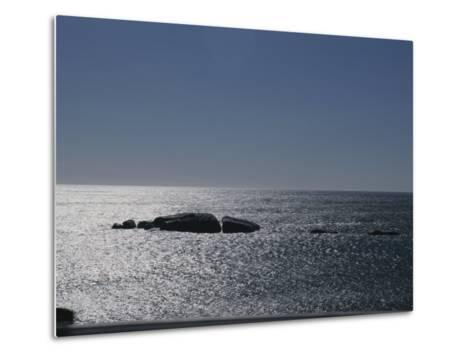 The Sun Glitters on the Atlantic Ocean off the Coast of South Africa-Stacy Gold-Metal Print