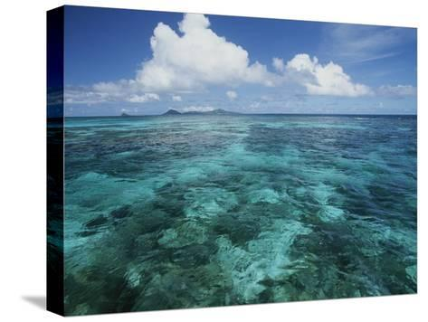 Shallow Blue Water Stretches to the Horizon-Michael Melford-Stretched Canvas Print