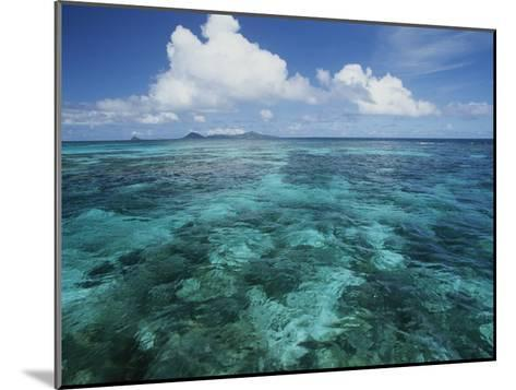 Shallow Blue Water Stretches to the Horizon-Michael Melford-Mounted Photographic Print