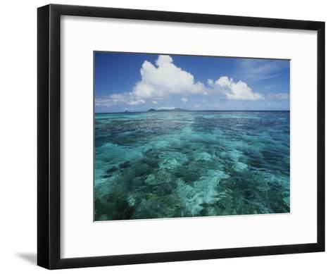 Shallow Blue Water Stretches to the Horizon-Michael Melford-Framed Art Print
